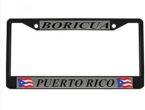 Elvira Jasper Car Tag Frame Car Boricua Puerto Rico Black Metal Auto License Plate Frame