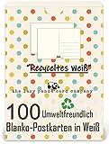 Postkarten Blanko - Leere Postkarten 100 Stück zum Selbstgestalten beschreiben oder bemalen extra...