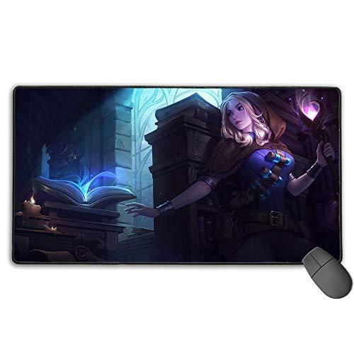 Alfombrilla de ratón para juegos extendida para League Legends lux Spellthief, almohadillas de goma antideslizante, impermeable, base de goma antideslizante, 40 cm x 75 cm