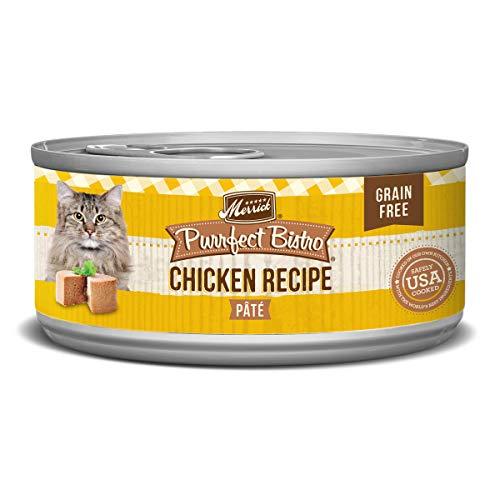 Merrick Purrfect Bistro Grain Free, 5.5 oz, Chicken Pate - Pack of 24