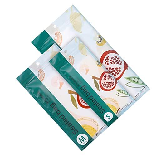 Lurrose 3 paquetes de bolsas reutilizables de almacenamiento de alimentos, bolsas planas para congelador, bolsas de almacenamiento a prueba de fugas, para sándwich, frutas, aperitivos y verduras