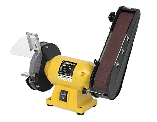 Powerplus POWX1270 Tischschleifmaschine 240 W – Bandschleifmaschine + Schleifstein