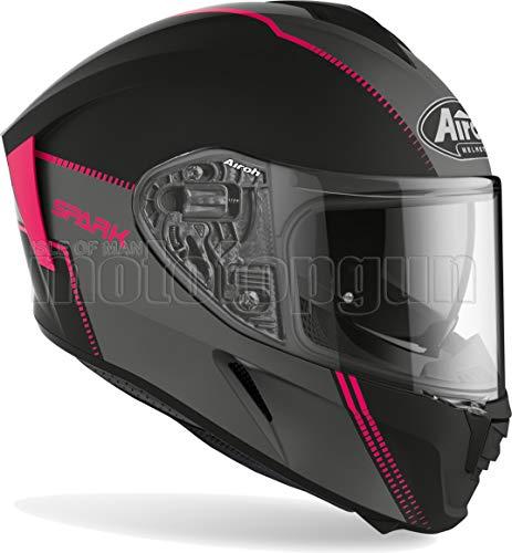 MOTOTOPGUN AIROH SPF54 Casco de moto integral rosa mate Spark Flow talla S