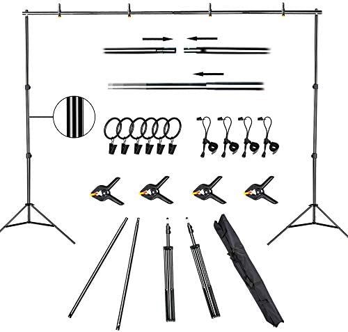 FUDESY Backdrop Stand 7x10Ft Adjustable Photography Background Support System Kit for Photo product image