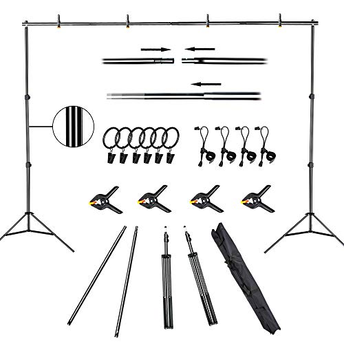 FUDESY Backdrop Stand 7x10Ft Adjustable Photography Background Support...