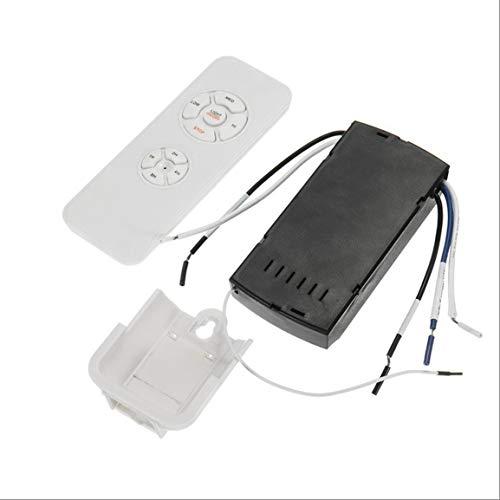 Ventilador de Techo Universal, lámpara con Mando a Distancia, Kit 110 – 240 V Timing Wireless Control, Interruptor Adaptado a la Velocidad del Viento, emisor Receptor