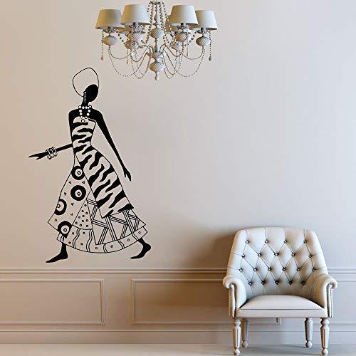 Tianpengyuanshuai muurstickers, Afrikaanse stijl, schoonheidssalon, dames, slaapkamer, decoratie, deuren en ramen, zelfklevend, vinyl, mooie achtergrondverlichting, creatief