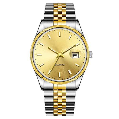 Relojes mecánicos automáticos para Hombre, muñecas Elegantes, Pulseras de Acero Inoxidable, Vidrio de Alta dureza, Lujo de Negocios y Ocio, proporcionan un Tiempo preciso Estilo de Oro