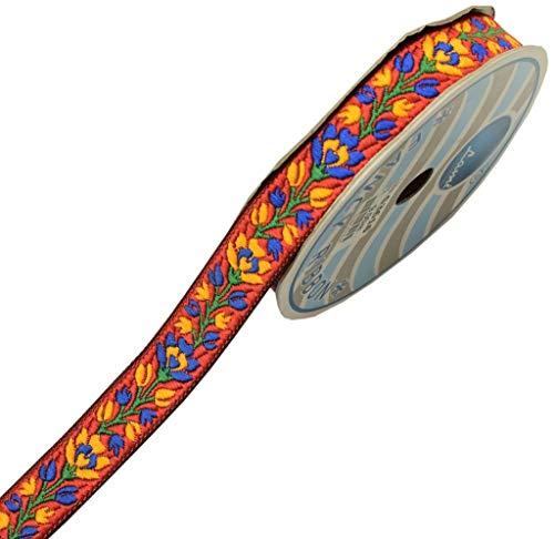 Sari-Bordüre, indisch, gewebt, zum Nähen von Nähen, Borte mit Spitze, Kastanienbraun