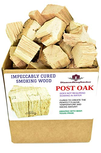 DiamondKingSmoker Smoking Wood Chunks 100% All Natural Barbecue Smoker Chunks for Grilling and BBQ | Large Cut Smoker Chips | Season Air-Dried for Premium Flavor Profile (Post Oak, 7 lbs)