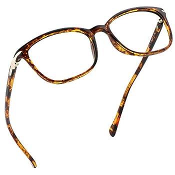 LifeArt Blue Light Blocking Glasses Anti Eyestrain Computer Reading Glasses Gaming Glasses TV Glasses for Women and Men Anti Glare  Tortoise No Magnification