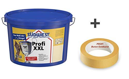 Südwest Profi XXL 12,5 Liter weiss + Buron Goldband 30 mm x 50 m