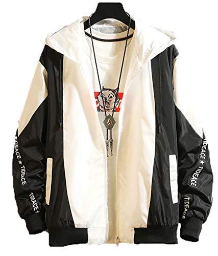 x8jdieu3 Herbst und Winter Neue Herrenoveralls Kapuzenjacke farblich passende Jacke lose Studentenjacke Herrenbekleidung