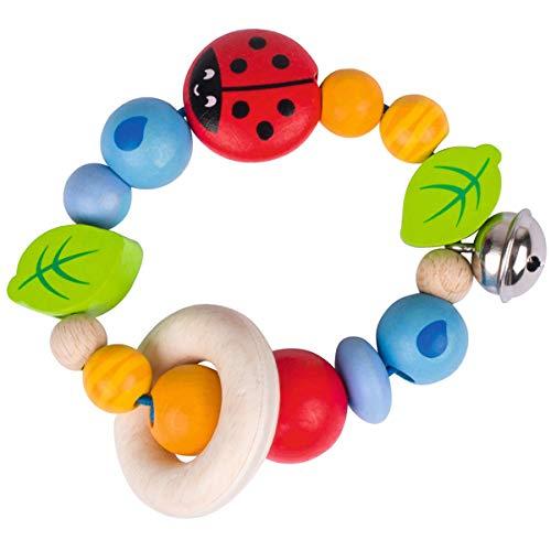 solini Le hochet Coccinelle jouet à saisir, naturel/multicolore