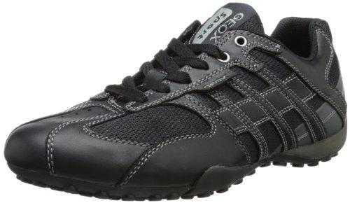 Geox Herren Uomo Snake K Low-Top, Schwarz (BLACK/LEADC9204), 39 EU