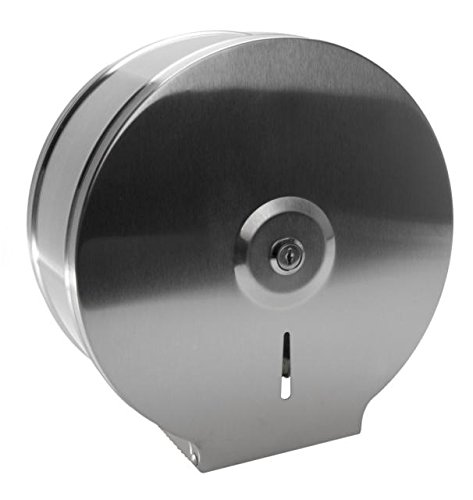 Edelstahl Jumbo Toilettenpapierspender Papierspender WC Papierabroller Business