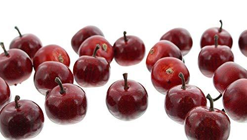 khevga Deko Apfel aus Kunststoff rot 24er Set