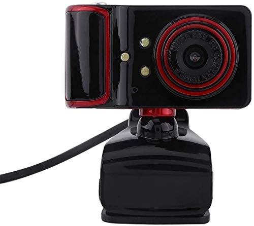 16M Bewinner USB Web Camera voor PC Computer, IP Camera voor Home Security, Indoor Camera Pixel HD Webcam Clip-on met 3 LED Lights Roteerbare Flexibele Ingebouwde Microfoon Rood
