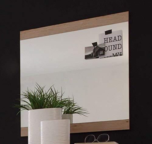 Stella Trading Can Can Spiegel, Garderobenspiegel, Holzdekor, San Remo, (B/H/T) 68 x 70 x 2 cm