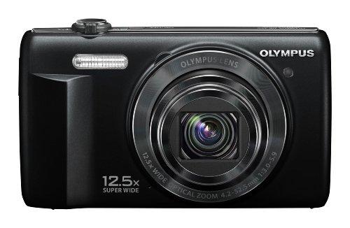 """Olympus VR-360 - Cámara compacta de 16 MP (Pantalla de 3"""", Zoom óptico 12.5X, estabilizador de Imagen), Color Negro"""