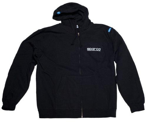 Sparco SP04100NR5XXL Zip WWW Hoodie XXL Schwarz Sweatshirt