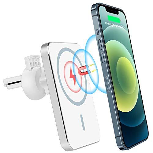 Avere Caricatore Wireless Auto Magsafe,Adatto per iPhone 12 PRO Max Mini, Caricatore Wireless Auto da 15 W, Supporto Cellulare Auto Ricarica Wireless