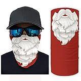 Santa Claus Navidad barba mágica bufanda cuello polaina bandanas para hombres y mujeres Handwear para pesca al aire libre pulsera UV Sunburn diadema Halloween disfraz decoraciones blanco onesize