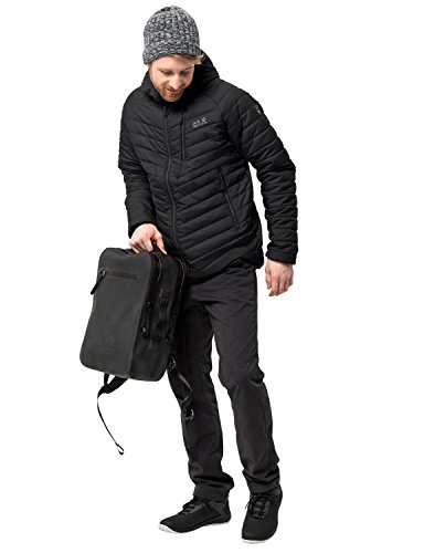 Jack Wolfskin Herren AERO Trail Men Isolationsjacke Winddicht Wasserabweisend Wetterschutzjacke, schwarz, XL
