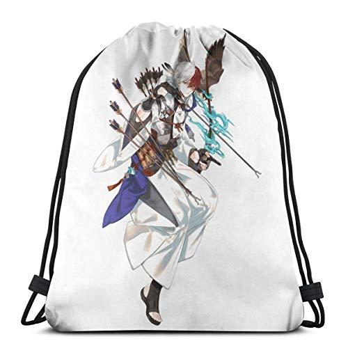 WH-CLA Bolsas Cinch Hero Academia Todoroki Shouto Mochila con Cordón Regalos De Cumpleaños Gimnasio Al Aire Libre Impresión De Moda Compras Fitness Hombres Anime Cinch Bags Durable Espec