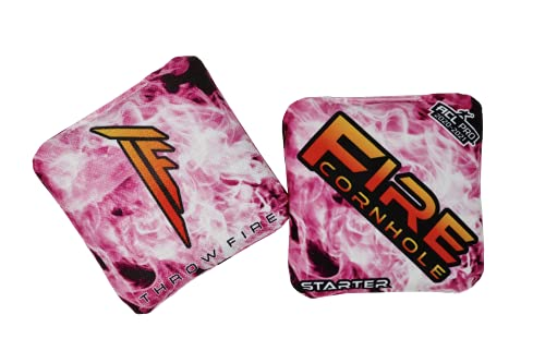 FIRE CORNHOLE Starter - Set of 4 (Pink)