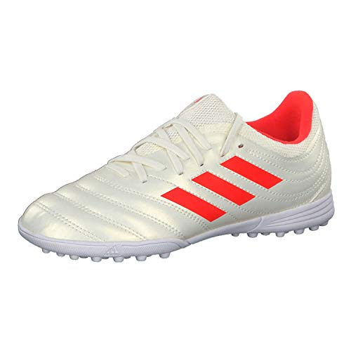 adidas Copa 19.3 Tf J, Scarpe da Calcio Uomo, Bianco (off White/Solar Red/Ftwr White off White/Solar Red/Ftwr White), 38 2/3 EU