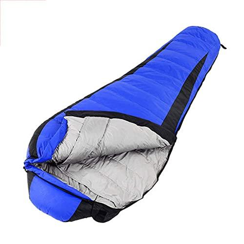 Inicio Equipamiento Saco de dormir para adultos Senderismo Sacos de dormir Al aire libre Durante la noche Saco de dormir para adultos Camping Viaje de campamento Rojo Azul Invierno Saco de dormir p