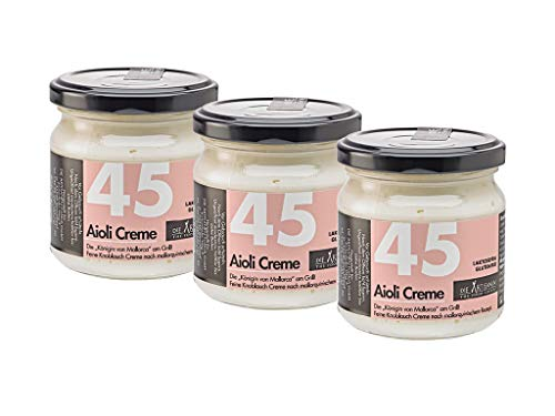 3 Gläser GRILLFREUND Aioli Creme je 180ml nach malloquinischem Rezept No. 45