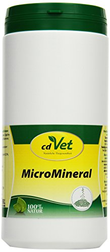 cdVet Naturprodukte MicroMineral Hund & Katze 1 kg - Natural micronutrient Supply - Relief detoxification Organs - Mineral Balance - Metabolism - Coat - Vitamin Protection -