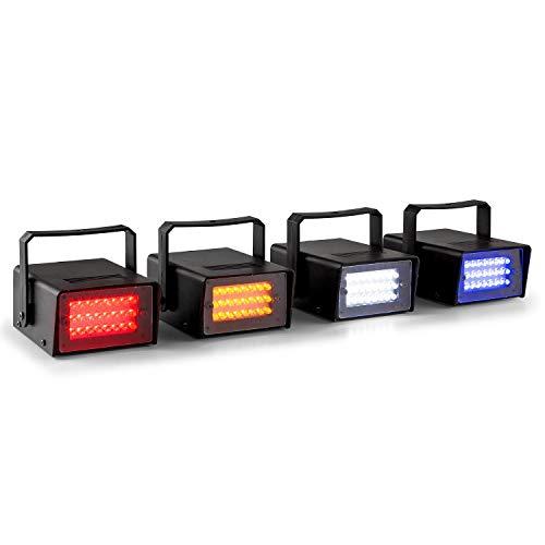 Beamz Mini LED-Stroboskop im 4er Set Lichteffekt Strahler in RGBW Farbspektrum (4x10W Leistung, Automatikmodus + manuelle...