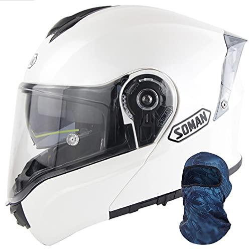 Casco Integral Abatible para Motocicleta Aprobado Por Dot Ece, Cómodo Casco de Motocicleta para Bicicleta de Calle, Aerodinámico, Cascos de Atv para Bicicleta de Calle para Hombres y Mujeres,#4,L