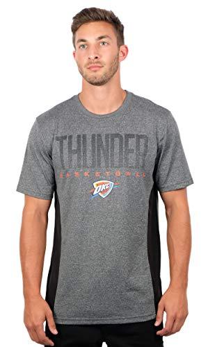 Ultra Game NBA Oklahoma City Thunder Mens Active Tee Shirt, Charcoal Heather, Medium