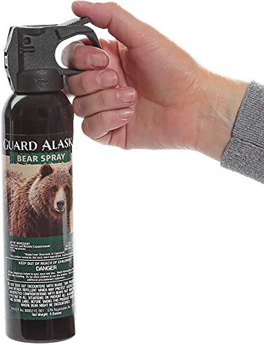Maximum Strength Bear Spray by Mace Brand – Accurate 25' Powerful Pepper Spray, – Great for Self-Defense When Hiking, Camping, and Other Outdoor Activities, green, 260 gram (153) (Green / NEW)