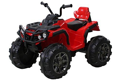 Actionbikes Kinder Elektro Quad Offroad 2 x 35 Watt (Rot)