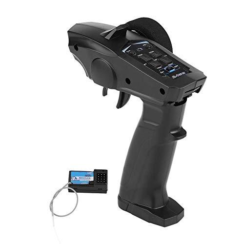 Dilwe Trasmettitore e Ricevitore per Telecomando Radiocomandato 2.4GHZ 4 Canali per Auto e Barca RC (91803G-VT)