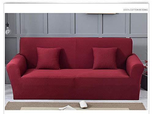 Elástica Cubierta de Asiento,Funda de sofá elástica Gruesa, cojín antiincrustante de sofá Antideslizante de Color sólido de Cobertura Total, Funda de cojín de Sala de Estar, Funda de protección de mu