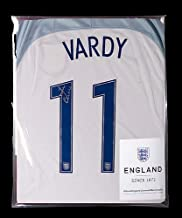 Jamie Vardy Official England Back Autographed Signed Signed 2016-17 Home Shirt - Certified Authentic