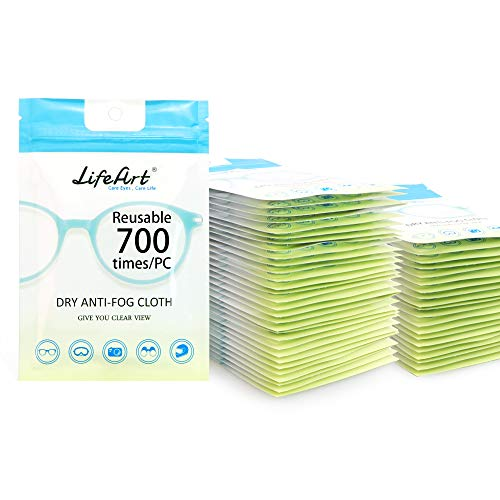 Eyeglasses Anti-Fog Cleaning Cloths, Screens, Lens Wipe for All Electronic Device Screens(50 Pack Anti-Fog Wipe)