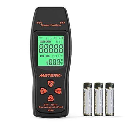 EMF Meter Meterk Electromagnetic Field Radiation Detector Handheld Mini Digital LCD EMF Detector Dosimeter Tester Counter for Low-Frequency Home Appliances