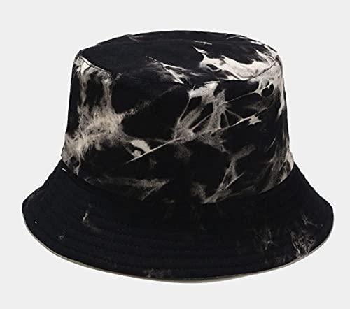 Chapeau Bob Femme Homme Panama Bucket Hat Fisherman Hat Bucket Cap for Men Women-Black_54-58Cm