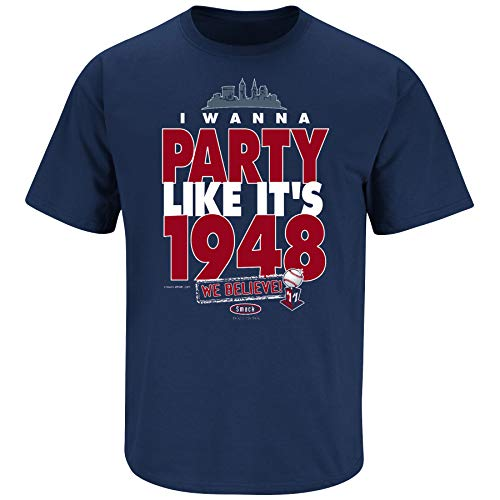 Smack Apparel Cleveland Indians Fans. I Wanna Party Like It 's 1948. Marineblau T Shirt (sm-5X), Unisex-Erwachsene Herren Damen, navy, XXXX-Large