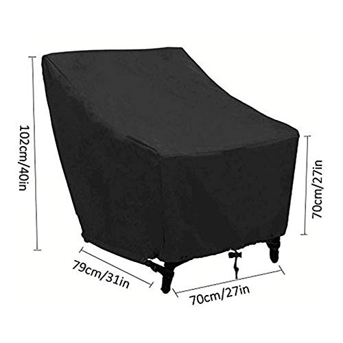 Rainproof Cloth Furniture Cover Patio Chair Cover Waterproof Dust-proof and Durable Table Furniture Protective Cover for Outdoors Garden