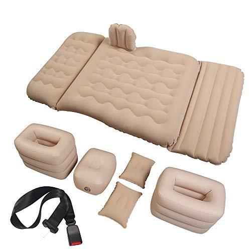 Air bed Verdicken Sie Auto/Luftmatratze, Faltbares Luftbett, Erwachsener/Schlafenauflage/Lagermatratze, Belastbarkeit 300Kg (beige, Schwarz) (Color : Beige)