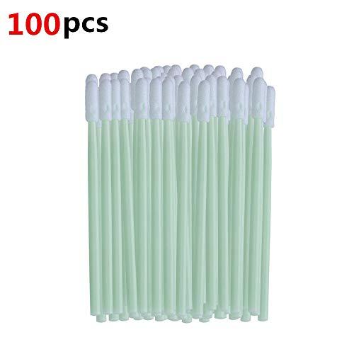 100 stuks schuimreinigingsdoekjes 2.8 in antistatische ronde schuimtip reinigingsdoekje sponsstok voor printer, printkop, optische instrument cameralens