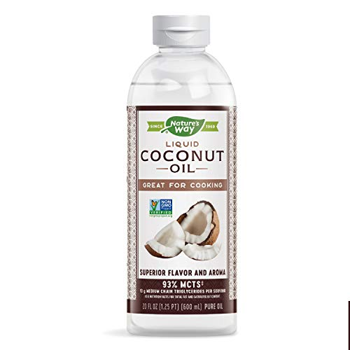 Nature's Way Liquid Coconut Oil, Non-GMO Project Verified, Great for Cooking, Vegan, 20 Fl. Oz.